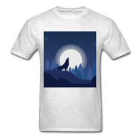 Wolf Howling at the Moon 2 - light heather grey