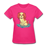 Happy Puppy - Women's - fuchsia