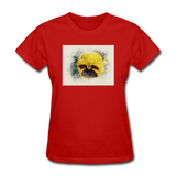 Yellow Pansy Watercolor - Women's - red