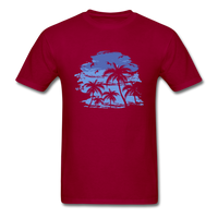 Palm Trees with Sky - Men's Tee - dark red