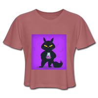 Satisfied Black Cat - Women's - mauve