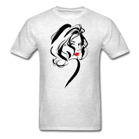 Woman with Red Lips - Men's - light heather grey