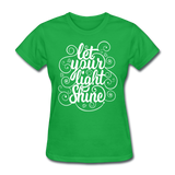 Let Your Light Shine - Women's - bright green