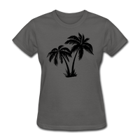 Palm Trees Silhouette - Women's Tee - charcoal