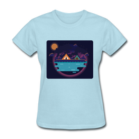 Camping on the Lake - Women's - powder blue
