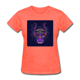 Colorful Dragon Face 2 - Women's - heather coral