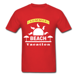 Summer Beach Vacation - Men's Tee - red