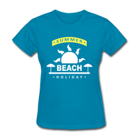 Summer Beach Holiday Design #4 - Women's Tee - turquoise