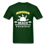 Summer Beach Vacation - Men's Tee - forest green