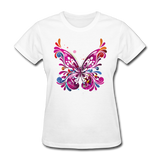 Abstract Pink Butterfly - Women's - white