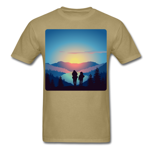 Backpackers at Sunset - Unisex - khaki