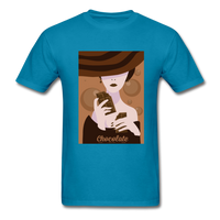 A Chocolate Eating Classy Lady - Men's - turquoise