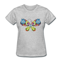 Patterned Butterfly - Women's - heather gray