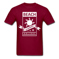 Beach Summer Holiday Design #2 - Men's Tee - burgundy