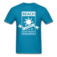 Beach Summer Holiday Design #2 - Men's Tee - turquoise