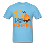 Life is Better Campfire - Men's - aquatic blue