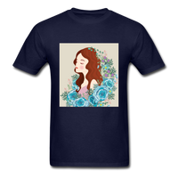 Beautiful Woman with Flowers - Men's - navy