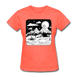 Peaceful Campsite - Women's - heather coral