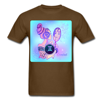 Gemini Lady on Blue - Unisex - brown