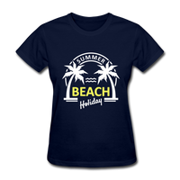 Summer Beach Holiday Design #3 Women's Tee - navy
