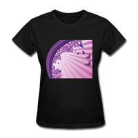 Sun Rays and Butterflies - Women's - black