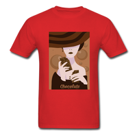 A Chocolate Eating Classy Lady - Men's - red