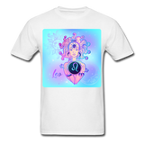 Leo Lady on Blue - Unisex - white