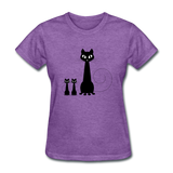 Black Cat Family - Women's - purple heather