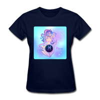 Pisces Lady on Blue - Women's - navy