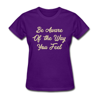 Be Aware - Women's - purple