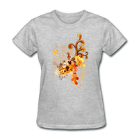 Swirls with Butterfly - Women's - heather gray