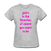 Point in the Direction - Women's - heather gray