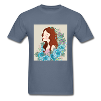 Beautiful Woman with Flowers - Men's - denim