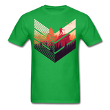 Geometric Hiking Pose - Men's - bright green