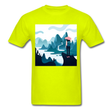Lady in Pink Hiking - Unisex - safety green