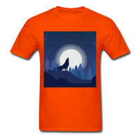 Wolf Howling at the Moon 2 - orange