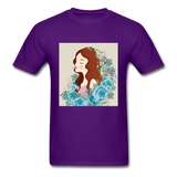 Beautiful Woman with Flowers - Men's - purple
