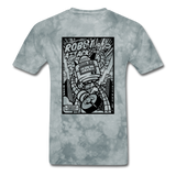 Robot Attack - Men's Tee - grey tie dye