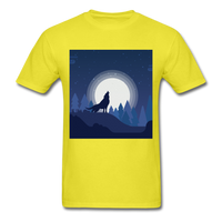 Wolf Howling at the Moon 2 - yellow