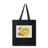 Yellow Rose Watercolor - Tote - black