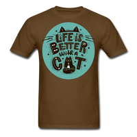 Life is Better Cat - Unisex - brown