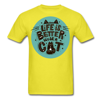 Life is Better Cat - Unisex - yellow