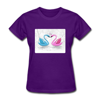 Swans in Love - Women's - purple