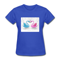 Swans in Love - Women's - royal blue