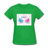 Swans in Love - Women's - bright green
