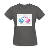 Swans in Love - Women's - charcoal