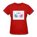 Swans in Love - Women's - red