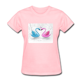 Swans in Love - Women's - pink