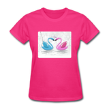 Swans in Love - Women's - fuchsia