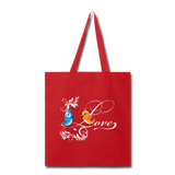 Birds in Love - Tote - red
